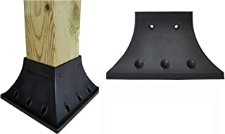 4x4 (Actual 3.5x3.5 Inches) Pro Version Post Railing Flange for Deck Porch Handrail Railing Support 1 Each