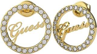 حلق بريمة صغير ستانلس ستيل مزين بفصوص زركون وشعار مفرغ للنساء من جيس UBE20141 - ذهبي