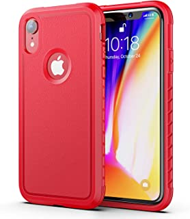 Aodh Compatible with iPhone XR Cases, Shockproof Protective Anti Scratch Cover Case Designed for iPhone XR (Red)