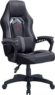 Urban Wave OC 6018 Gaming Chair Computer Office Chair in Racing Style (Grey)