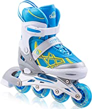 Hiboy Adjustable Inline Skates with All Light up Wheels, Outdoor & Indoor Illuminating Roller Skates for Boys, Girls, Begi...
