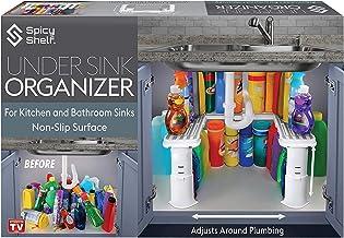 Expandable Under Sink Organizer and Storage I Bathroom Under the Sink Organizer Kitchen Under Sink Shelf I Cleaning Supplies Organizer Under Sink Storage I EXPANDABLE HEIGHT DEPTH & WIDTH