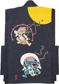 【日本製】羽織バックプリント (風神雷神) 日本製 フリーサイズ