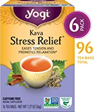 Yogi Tea - Kava Stress Relief - Eases Tension and Promotes Relaxation - 6 Pack, 96 Tea Bags Total