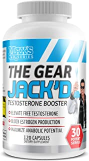 Max's Lab Series The GEAR JACK'D Testosterone Booster, 120 Capsules