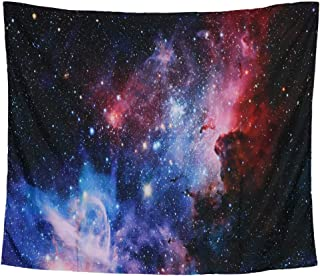 Beaverve Galaxy Tapestry, Wall Hanging Starry Night Tapestry Space Tapestry, Home 3D Cosmic Starry Sky Tapestry, Wall Tapestry Blanket for Bedroom Living Room College Dorm, 59 x51Inches