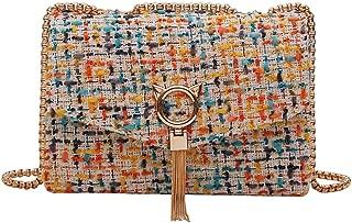 Crossbody bag Chain One shoulder Small square bag Multicolor