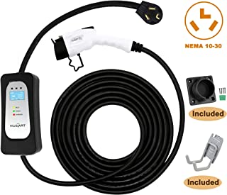 MUSTART Level 2 Portable EV Charger (240 Volt, 25ft Cable, 26 Amp), Electric Vehicle Charger Plug-in EV Charging Station with NEMA 10-30P