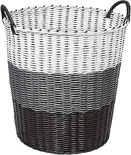 Paniers à Linge Panier en plastique en rotin Panier à linge sale Vêtements Jouet Vêtements Panier de rangement Vêtements V...