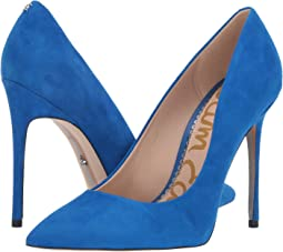 Sapphire Blue Kid Suede Leather