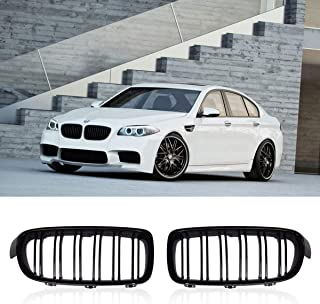 SODIAL 1Pair Gloss Black Front Grille//Grilles Kidney For 3-Series F30 F31 F35 2012-2017 Car Styling