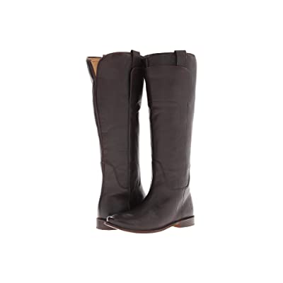 Frye Paige Tall Riding (Dark Brown Calf Leather) Women