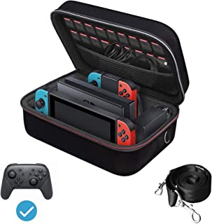 comprar comparacion Funda para Nintendo Switch, iVoler Estuche Dura de Transporte de Lujo, Carcasa Rígida de Viaje para Consola, Adaptador AC,...