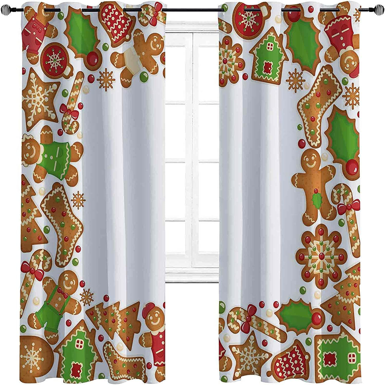 Kids Max 84% OFF Christmas Bedroom Blackout Curtains Sweet Xmas Taste 2021new shipping free Se of