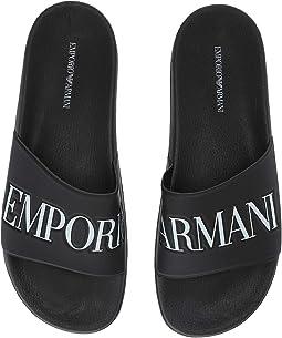 2e3ad16903cd Emporio Armani. Dubai Sandal.  275.00. Luxury. Black White