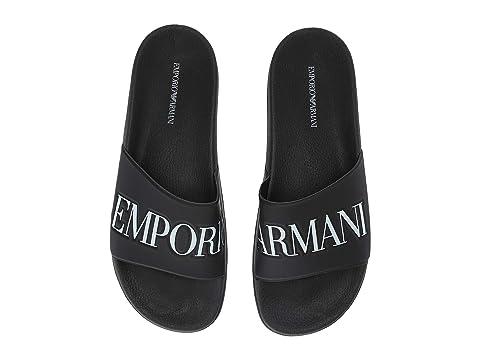 24a0d7cb5a9 Emporio Armani Logo Sandal at Luxury.Zappos.com