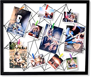 ATOBART Wood Picture Holder Collage Frames Wire Wall Photo Grid Panel 20 x 24 Inch