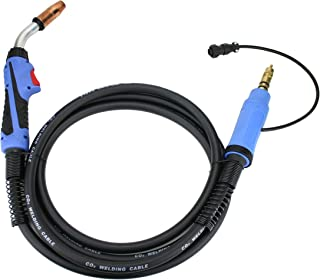 250 Amp MIG Gun Torch Replacement for Miller/Hobart - 12 Feet Cable - Two-Pin Signal Connector - 169598