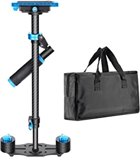 "Neewer Carbon Fiber 24""/60cm Handheld Stabilizer with Quick Release Plate 1/4"" and 3/8"" Screw for DSLR and Video Cameras u..."