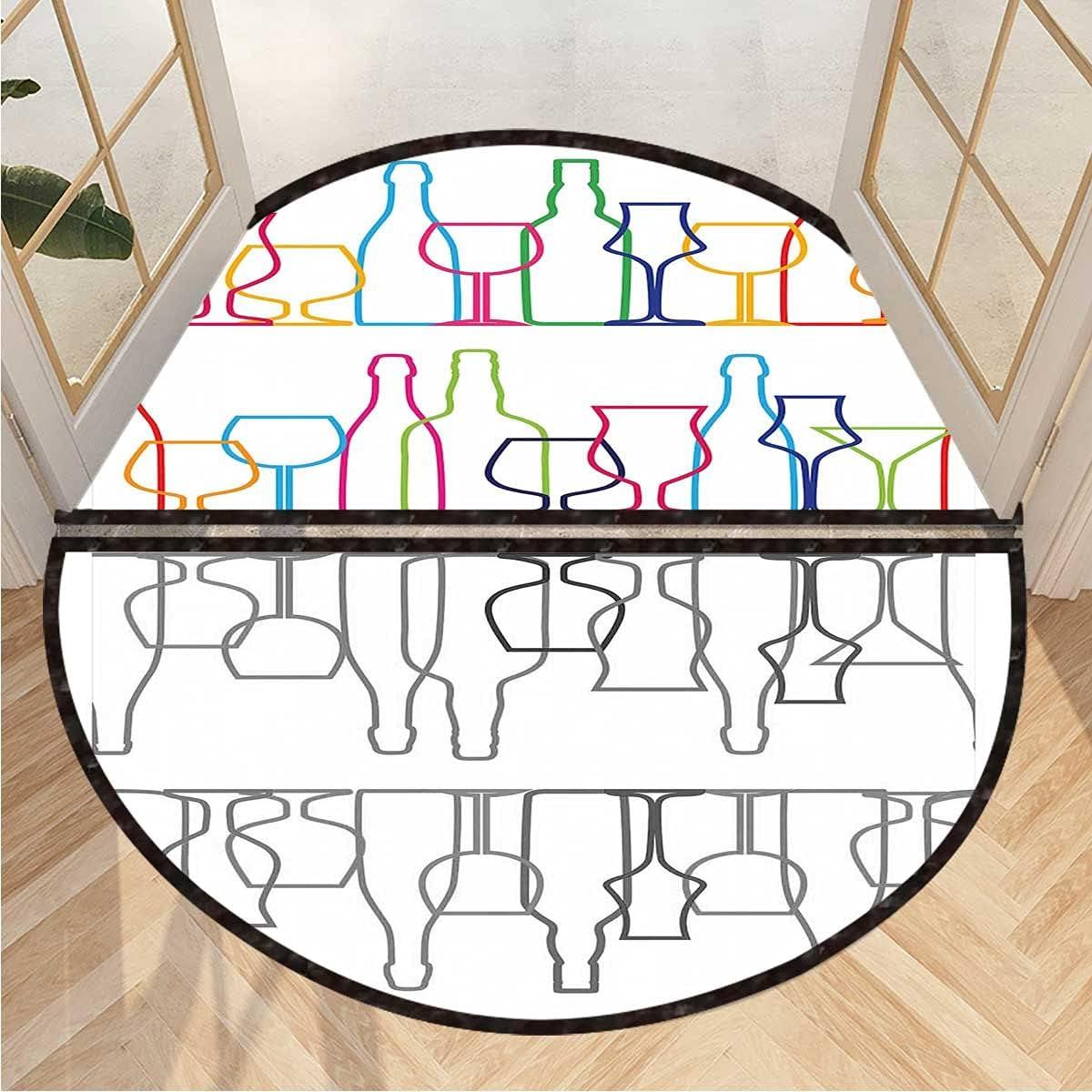 Semicircular Floor Mat Colorful Outline Ranking TOP13 Door Bottles 3D Ranking TOP13 Printing