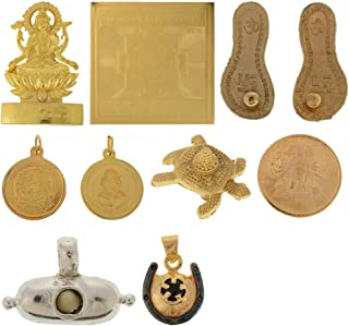 ARIHANT GEMS & JEWELS Adult Shani Maha Raksha Kawach (17Cm X 20 cm X 4 cm, Golden+Black)