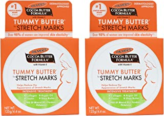 Palmers Cocoa Butter Formula Tummy Butter for Stretch Marks With Vitamin E - Pack of 2-4.4 oz Treatment