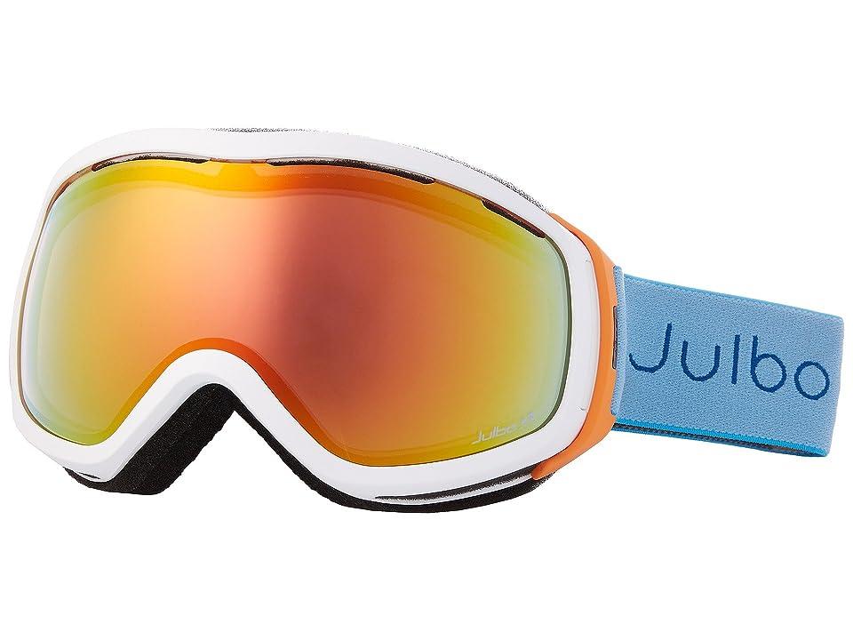 Julbo Eyewear Elara (White/Orange/Turquoise with Zebra Light Photochromic Lens) Snow Goggles