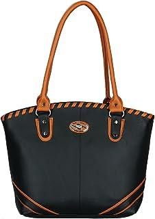 Fristo women handbag (FRB-044)(Black and Tan)