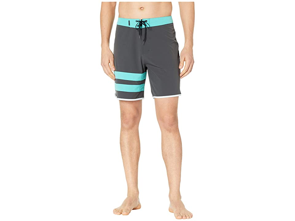 Hurley Phantom Block Party Solid 18 Boardshorts (Anthracite) Men