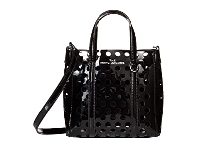 Marc Jacobs The Tag Tote 21 Perforated Patent (Black) Handbags
