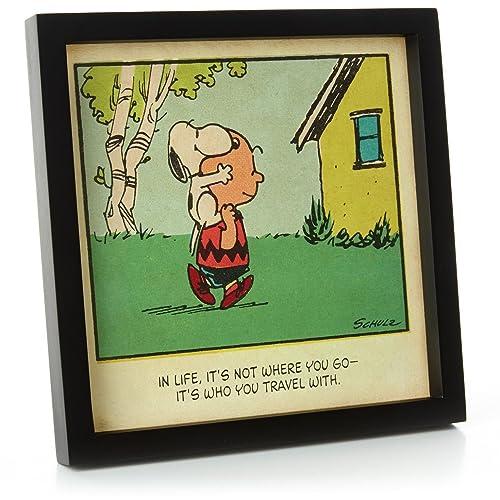 Peanuts Hallmark Friendship Framed Sentiment