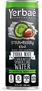 Yerbaé Enchanced Sparkling Water Strawberry Kiwi, 12 Oz. Cans (Pack of 9)