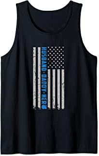 Mens Police: Husband Daddy Protector Hero Tank Top