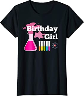 Girl's STEM Mad Science Birthday Party Shirt