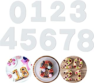 Gâteau 0-8 Nombres 9 Pièces Numéros Set Set Ustensiles De Cuisson Numéros De Moules De Cuisson Nombre Gâteau Pochoirs Gâte...