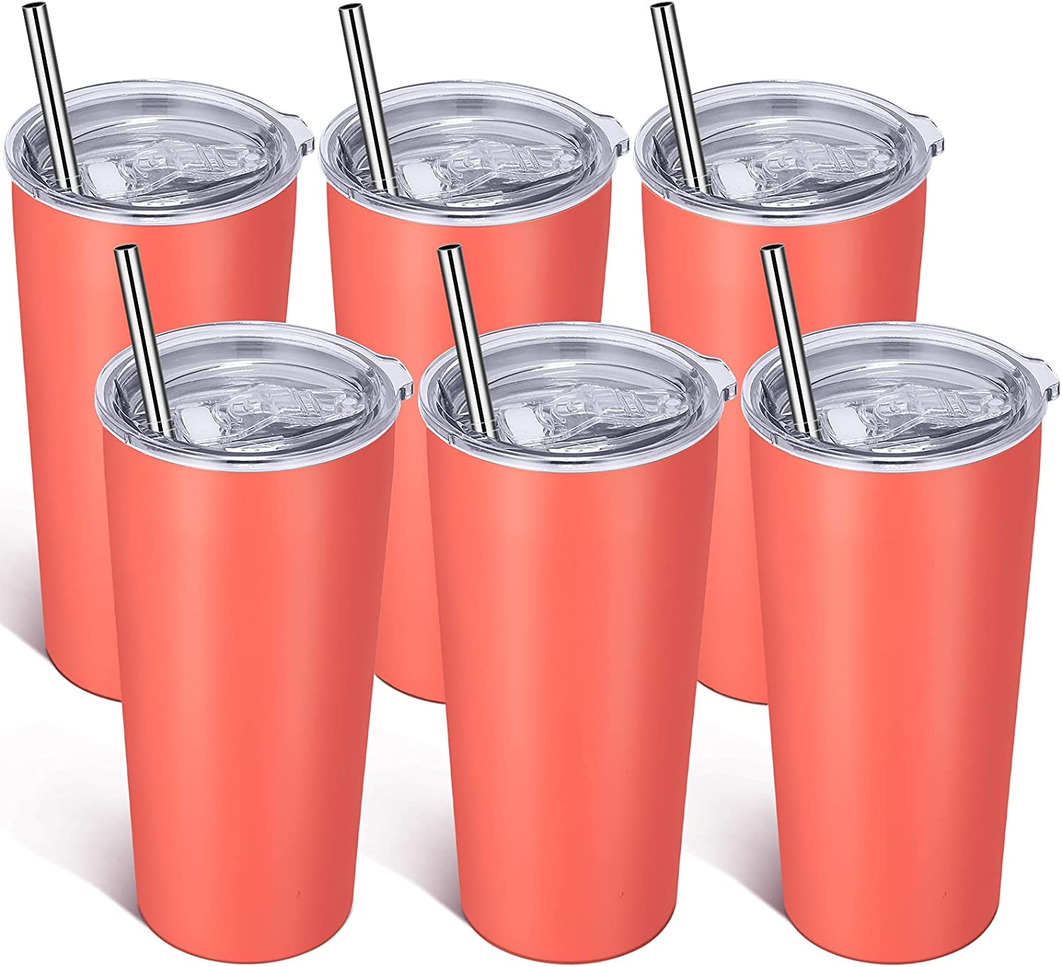 Superlatite VEGOND 20oz Tumbler Bulk with Lid 6 and Pack St Straw OFFicial shop Stainless