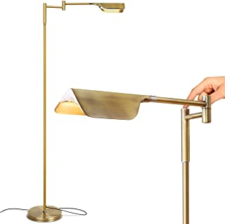 Brightech Leaf – Adjustable Pharmacy LED Floor Lamp for Reading, Crafts &..