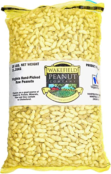 Virginia Peanuts Bulk Inshell Animal Peanuts For Squirrels Birds Deer Pigs And A Wide Variety Of Wildlife 25LB Bag Raw Peanuts Bulk Nuts Blue Jays Cardinals Woodpeckers Parrots Doves