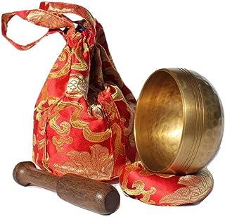 Andos Tibetan Singing Bowl Set Handcrafted in Nepal/Meditation Sound Bowl Set Helpful for Yoga Meditation Prayer Zen Chakr...
