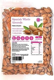 PINK SUN Hele Amandelen 1kg Rauwe Natuurlijke Spaanse Noten Ongeroosterd Ongezouten Met Huiden Glutenvrij Veganistisch Veg...