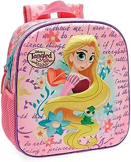 Princesas Rapunzel Mochila Preescolar frontal 3D Multicolor 23x25x10 cms Poliéster 5.75L