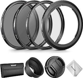 Neewer Kit Accesorios Lentes para Canon PowerShot SX530 HSSX520 HSSX60 HSSX50 HSSX40 con:Anillo Adaptador de Filtro+Conjunto Filtros 67mm(UV/CPL/ND4)+Capucha de Goma+Tapa+Bolsa