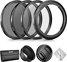 Neewer Lens Accessory Kit for Canon PowerShot SX530 HS, SX520 HS, SX60 HS, SX50 HS, SX40, Includes: Filter Adapter Ring + 67mm Filter Set(UV/CPL/ND4) + Rubber Lens Hood + Lens Cap + Filter Pouch