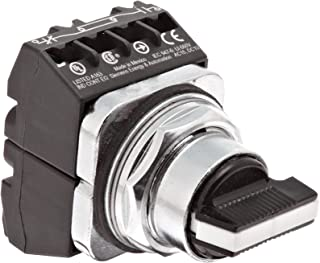 Siemens 52SA2CDBA2 Heavy Duty Selector Switch Unit, Water and Oil Tight, 3 Positions, Short Lever, Momentary Spring Return From Left and Right Operation, C Cam, 2NO + 2NC Contact Blocks