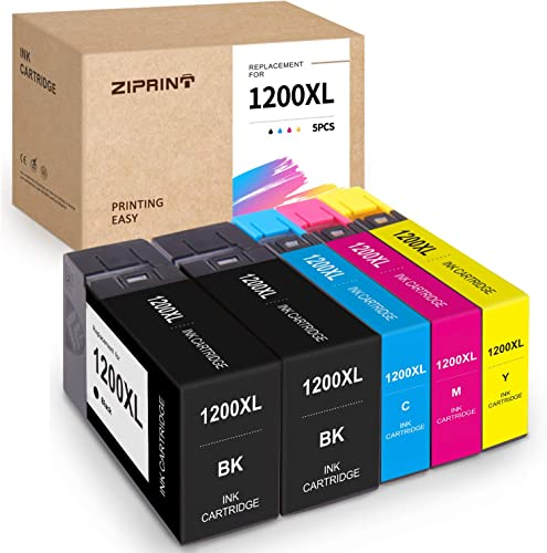 discount ZIPRINT Compatible Ink Cartridge Replacement for Canon 1200 1200XL PGI-1200XL for MAXIFY MB2320 discount MB2020 MB2050 outlet online sale MB2120 MB2350 MB2720 (Black, Cyan, Magenta, Yellow, 5-Pack) outlet sale