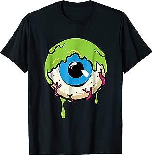 Slimy Human Eye Ball - Creepy Funny Halloween Tee Shirt
