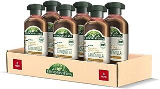 Antica Erboristeria Shampoo Addolcente Camomilla, Shampoo per Capelli Delicati, con Ingredienti Naturali, 6 pezzi x 250 ml