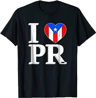 I Love Puerto Rico Flag Shirt PR Boricua Tee Gift