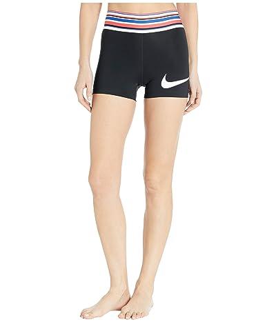 Nike Pro Shorts 3 Graphic (Black/White) Women
