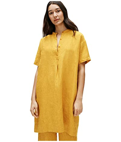 Eileen Fisher Mandarin Collar Dress (Marigold) Women